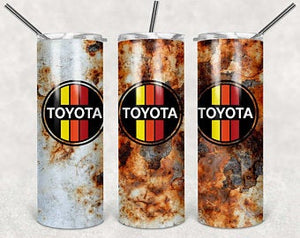 Toyota 20oz Stainless Steel Tumbler with Straw & Lid