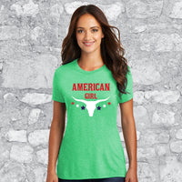 AMERICAN GIRL RED/WHITE/BLUE (SCREEN PRINTED)