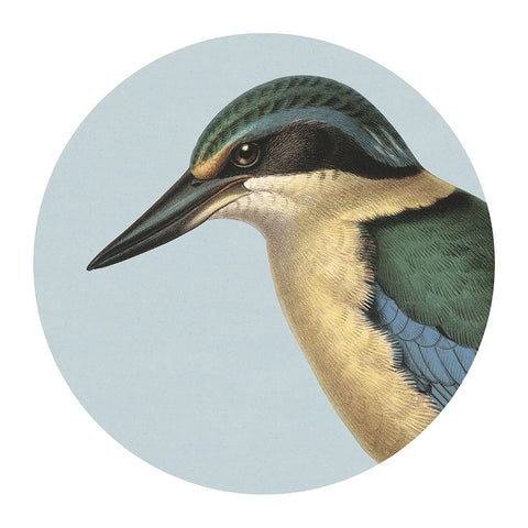 Hushed Blue Kingfisher Placemat