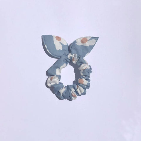 Bunny Hair Tie - Large White Flower