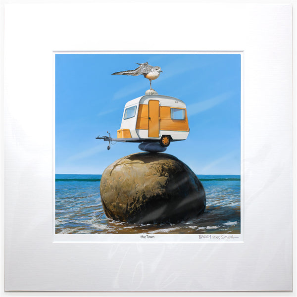 The Balancing Act Matted Print