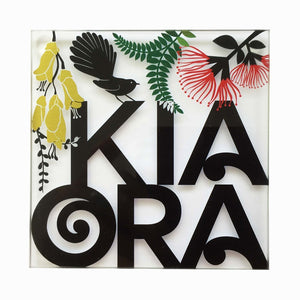 KiaOra Glass Coaster