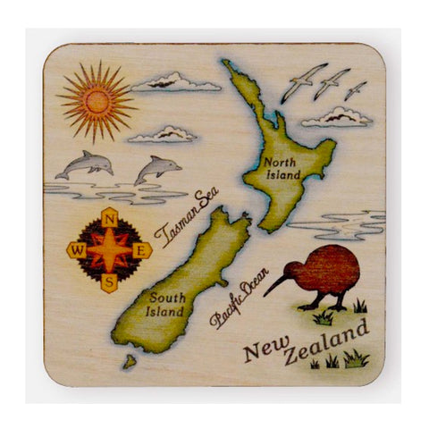 NZ Scene Wooden Coaster