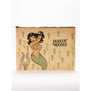 Makin' Waves Jumbo Zipper Pouch