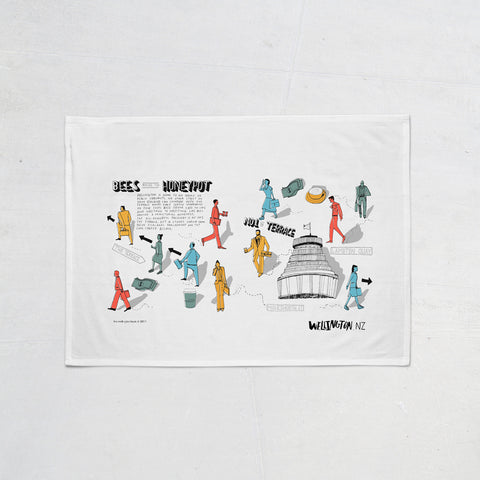 Wellington Book Honeypot Tea Towel