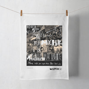 Wellington Book Coffee Capital Tea Towel