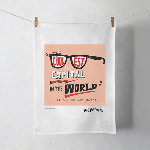 Wellington Book Cool Capital Sunnies Tea Towel