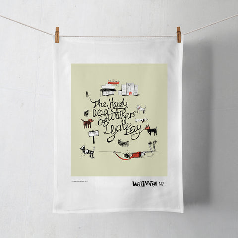 Wellington Book Lyall Bay Tea Towel