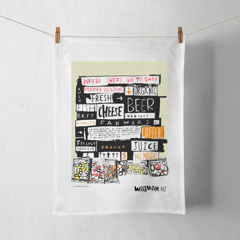 Wellington Book Moore Wilson Tea Towel