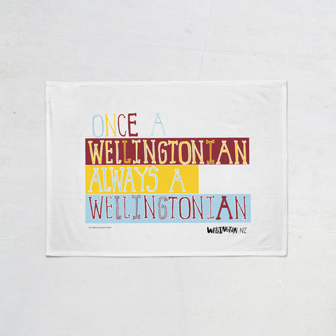 Wellington Book Wellingtonian Tea Towel