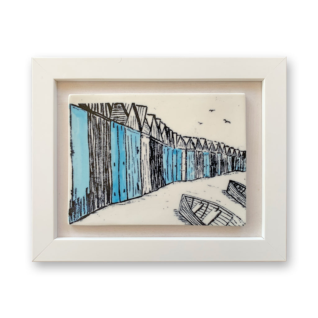 Boat Sheds Framed Ceramic Tile