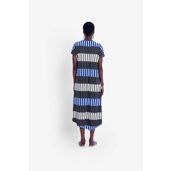Elk Olive Stripe Valby Dress
