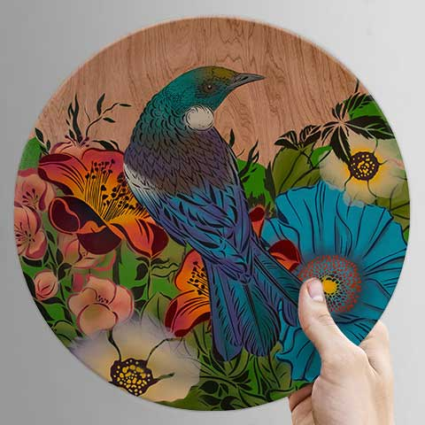 Perched Tui Classic Bamboo Plate