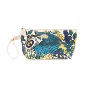 Kingfisher Small Cotton Pouch With Wristlet