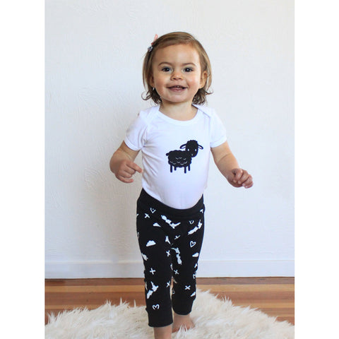 Sheep Bodysuit & Pants Set