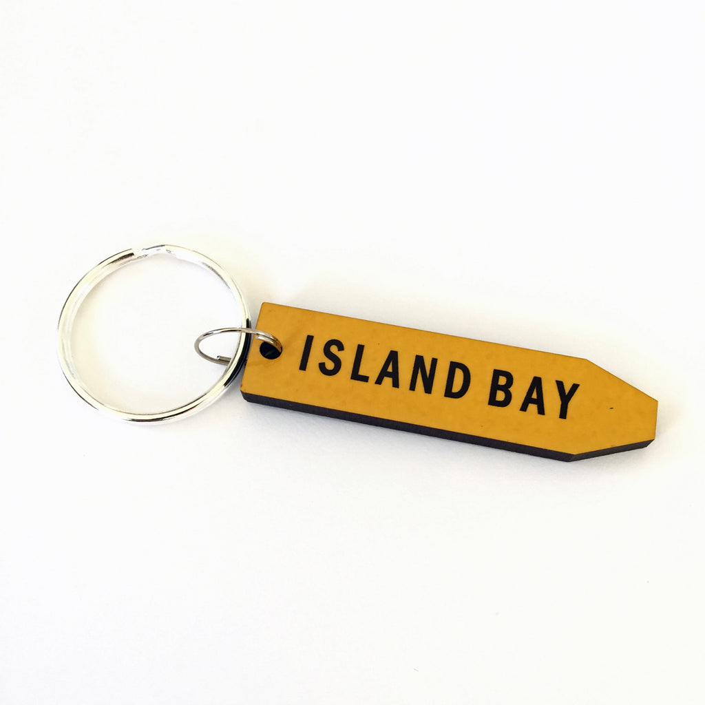 Give Me A Sign Island Bay Key Ring