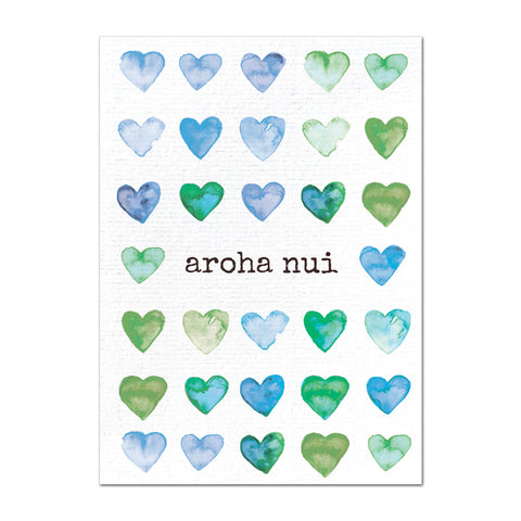 Water Coloured Heart Luxe - Greeting Card