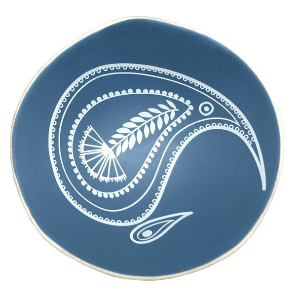 Kiwi Paisley on Blue 7cm Bowl