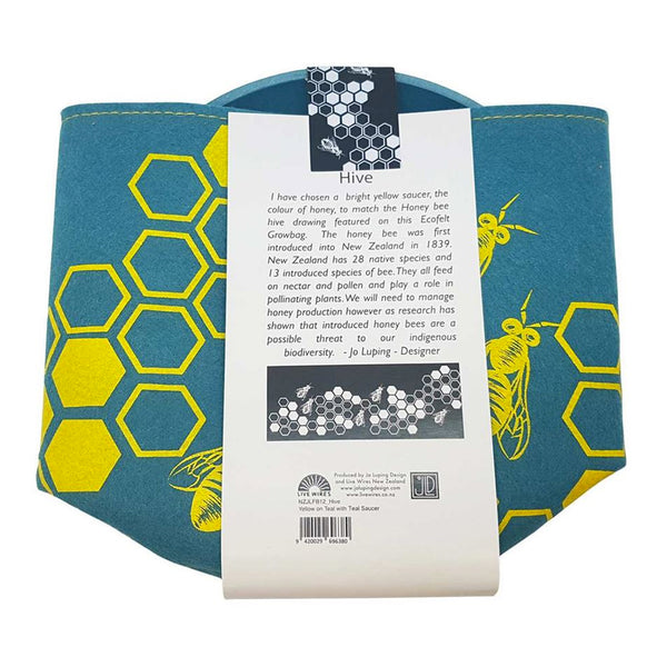 Honey Bee Ecofelt Growbag / Teal