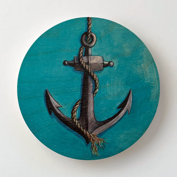 Anchor Round Ply Wall Art