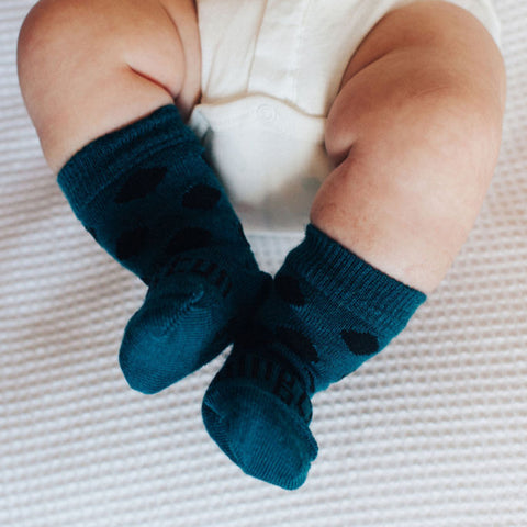 Lake Merino Crew Baby Socks