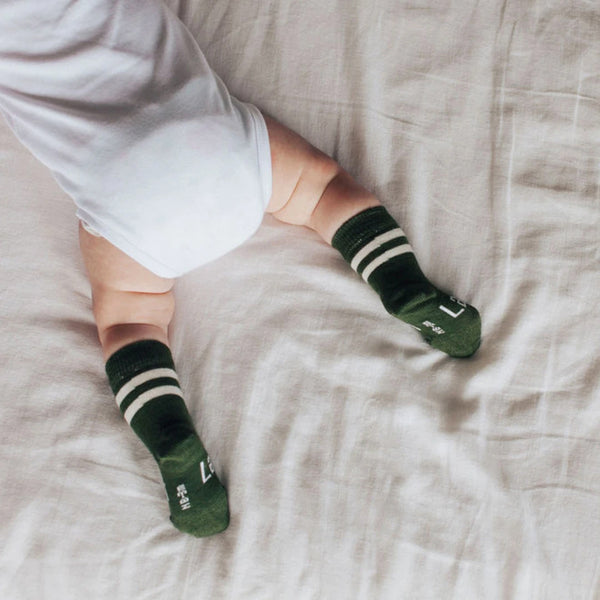 Sage Merino Crew Baby & Toddler Socks