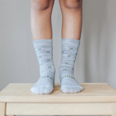 Basil Merino Crew Child Socks