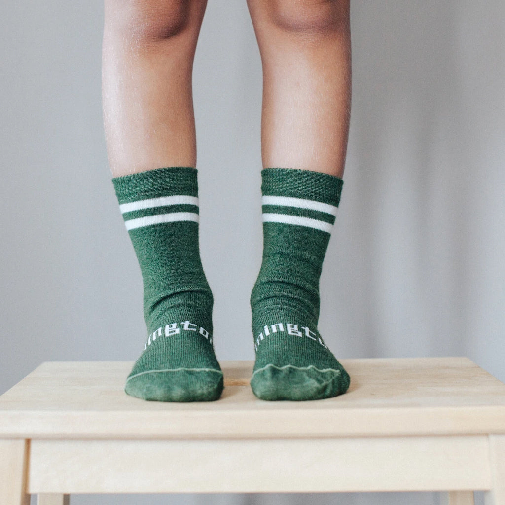 Sage Merino Crew Child Socks