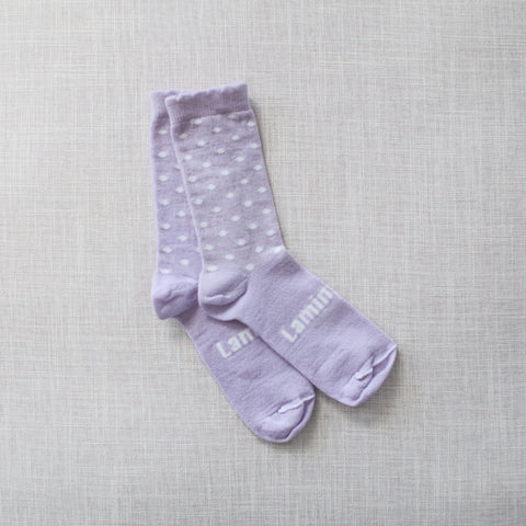 Violet  Merino Crew Child Socks