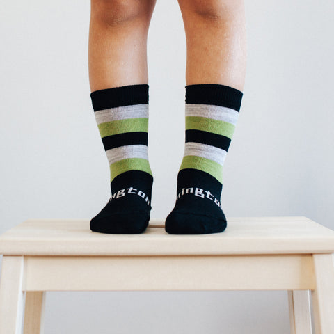 Jet Merino Crew Toddler Socks