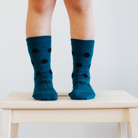Lake Merino Crew Toddler Socks