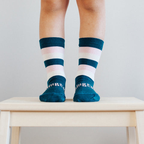 Lily Merino Crew Toddler Socks
