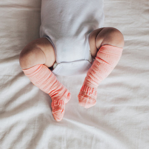 Coral Merino Knee High Baby & Toddler Socks