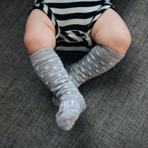Snowflake Merino Knee High Baby & Toddler Socks