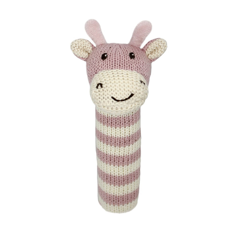 Ellie Stripey Giraffe Stick Rattle