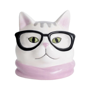 Cat Mini Ceramic Planter