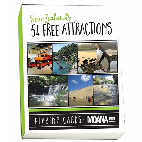 NZ's 54 Free Attractions Playing Cards