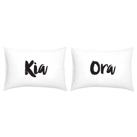 Kia Ora Pillowcase Set