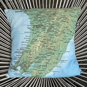 Vintage Wellington Province Map Cushion Cover