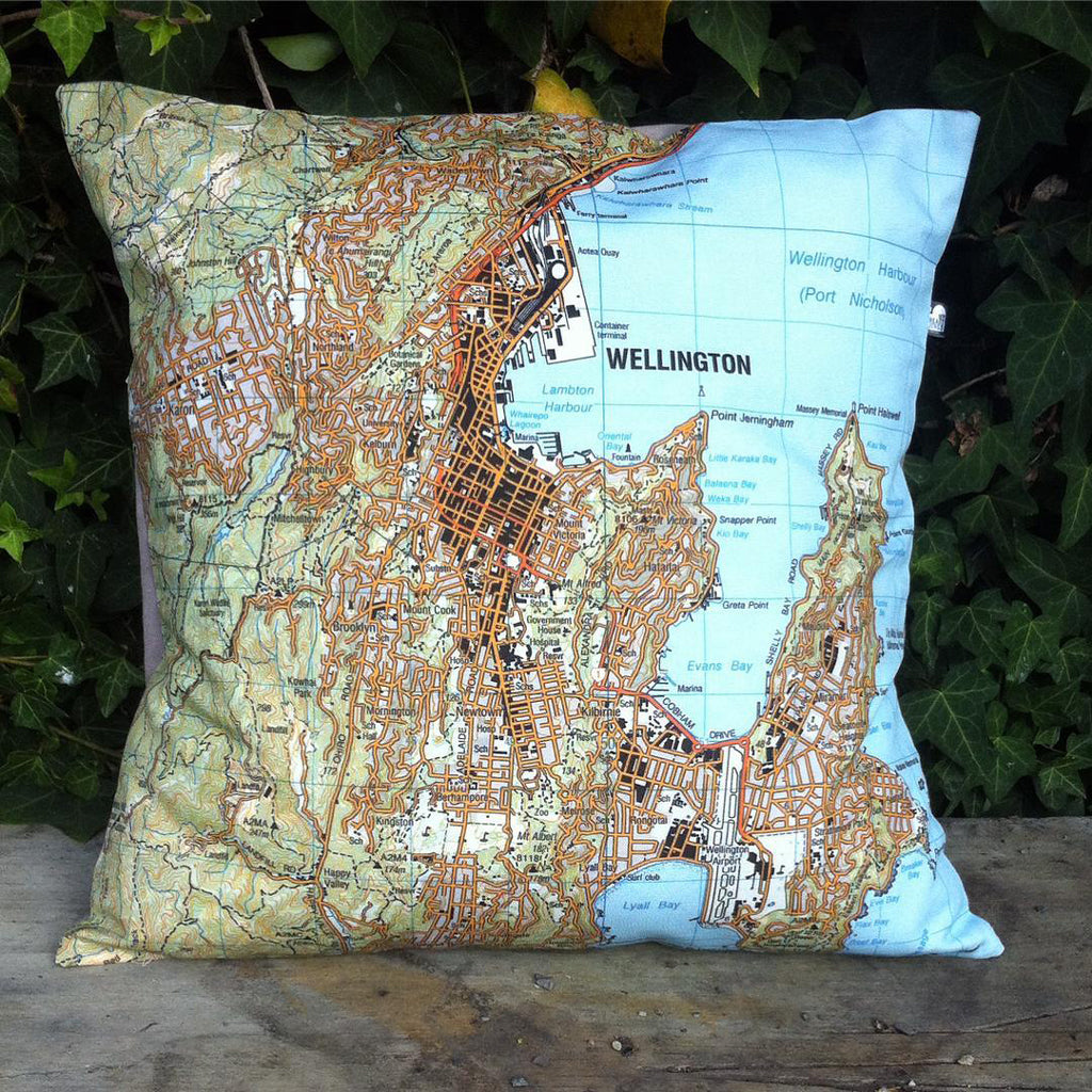 Wellington Central Map Cushion Cover