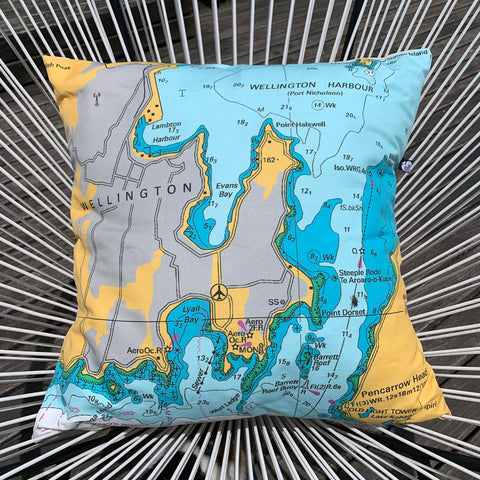 Wellington Harbour Marine Cushion Cover