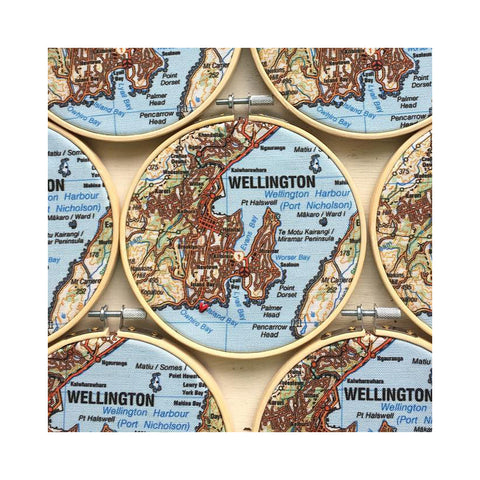 Wellington Map Hoop {Heart} Island Bay