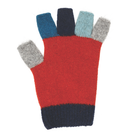Kid's Multi Colour Fingerless Gloves