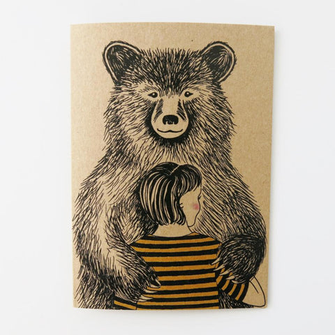 Bear Hug - Greeting Card