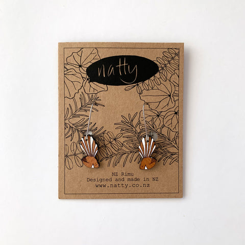 Fantail Rimu Drop Earrings