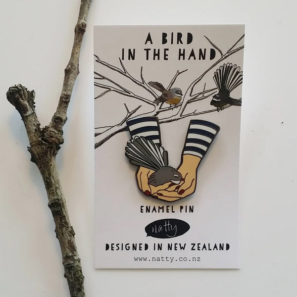 A Bird In The Hand Enamel Pin