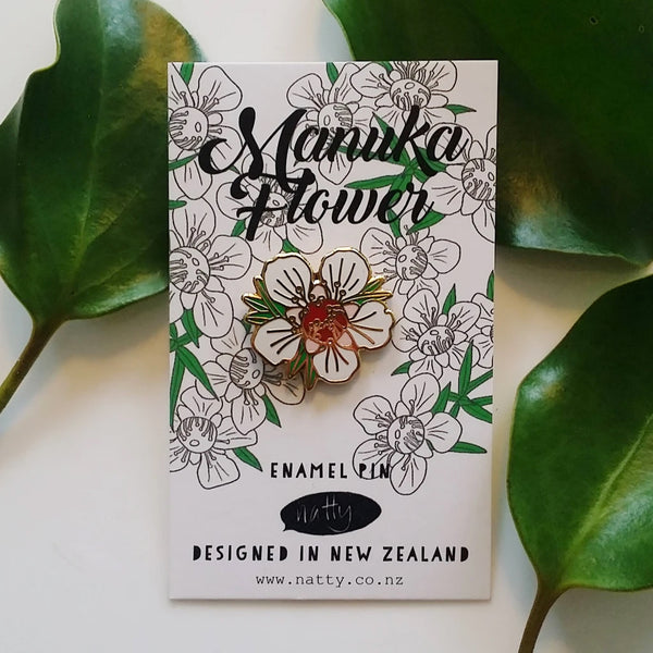 Manuka Flower Enamel Pin