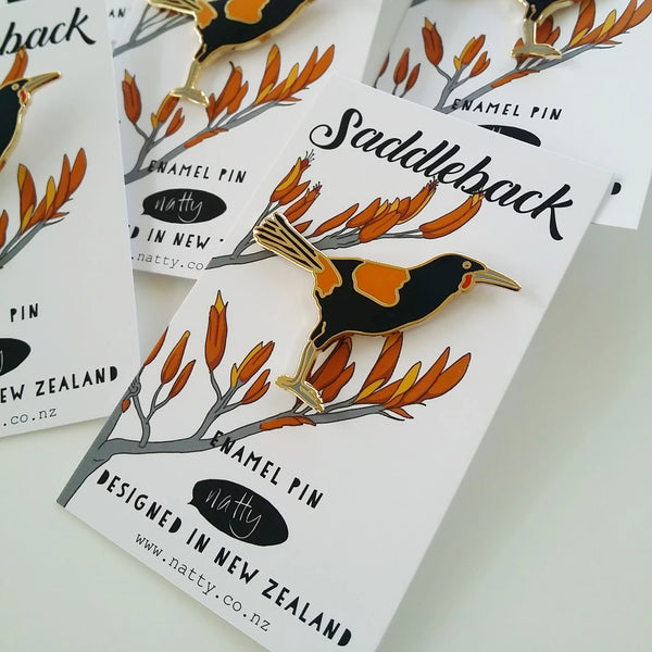 Saddleback Enamel Pin