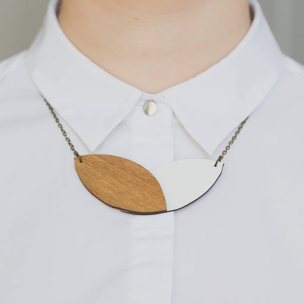 Double Leaf Reversible Necklace