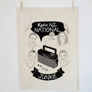 National Radio Junkie Tea Towel